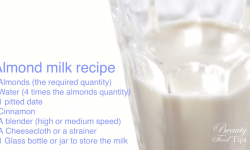 Almond milk homemade recipe